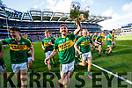 Sean O'Leary Kerry Minors celebrate with the Tom Markham Cup after defeating Derry in the All-Ireland Minor Footballl Final in Croke Park on Sunday.
