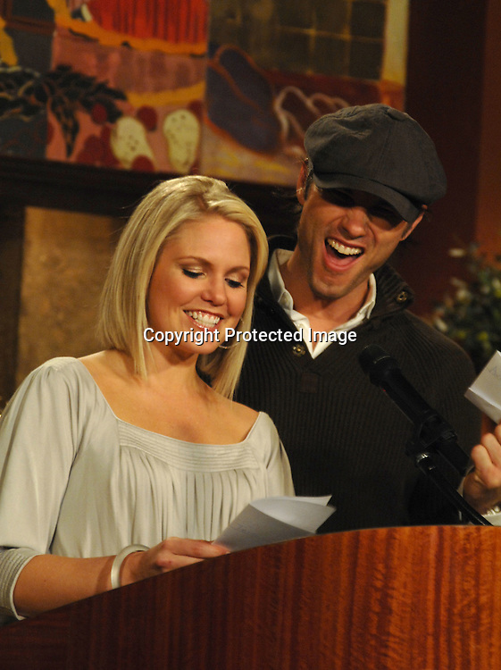 "Terri Colombino and Austin Peck of ""As The World Turns""..at the Announcement of the nominees for the 34th Annual Daytime Emmy Awards on March 14, 2007 at ""Guiding Light"" Studio. Julie Chen of "" The Early Show"" was the host. ..Robin Platzer, Twin Images"