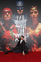 LOS ANGELES, CA - NOVEMBER 13: Ezra Miller, at the Justice League film Premiere on November 13, 2017 at the Dolby Theatre in Los Angeles, California. Credit: Faye Sadou/MediaPunch