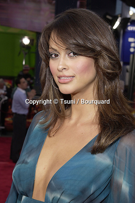 Michelle Baney arriving at the premiere of Scorpion King at the Universal Amphitheatre in Los angeles. April 17, 2002.