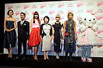 "(L to R) Tao, Chris Peppler, Youn-a, Mitsuko Watanabe,  Miliyah Kato, Yoon, Hello Kitty, September 06, 2014 : Tokyo, Japan - (L to R) Tao, Chris Peppler, Youn-a, Mitsuko Watanabe, Miliyah Kato, Yoon and Hello Kitty pose for the cameras at the ""FASHION'S NIGHT OUT 2014"" by VOGUE Japan on September 06, 2014 in Tokyo, Japan. The annual event took place in 20 countries where stores stay open late, offer opportunities for customers to come close to models and celebrities alike. This event started to promote the fashion industry in Japan and is held in Tokyo on September 6 and Osaka on October 18. (Photo by Rodrigo Reyes Marin/AFLO)"