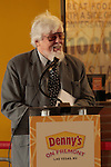 Denny's on Fremont Street's Grand opening and Ribbon Cutting opening remarks from Denny's President and Creative Director SITE Architecture James Wines