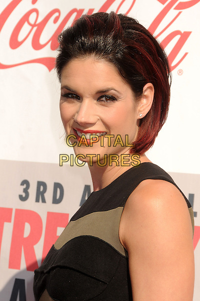 Missy Peregrym.3rd Annual Streamy Awards held at the Hollywood Palladium, Hollywood, California, USA..February 17th, 2013.headshot portrait black sleeveless side green.CAP/ADM/BP.©Byron Purvis/AdMedia/Capital Pictures.