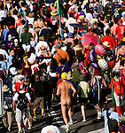 California, San Francisco: Bay to Breakers as a clothing-optional run..Photo #: 31-casanf80855.Photo © Lee Foster 2008