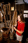 FL: Florida Everglades National Park,.historic Smallwood store, young woman with furs, model released..Photo Copyright: Lee Foster, lee@fostertravel.com, www.fostertravel.com, (510) 549-2202.Image: flever212