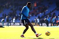 Victor Wanyama of Tottenham Hotspur ahead of kick off before Crystal Palace vs Tottenham Hotspur, Premier League Football at Selhurst Park on 25th February 2018