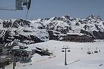 Riding up B3 chairlift, Ischgl Ski Area, Austria
