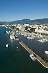 Aerial view of Marlin Marina and city centre.  Cairns, Queensland, Australia