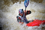 June 8, 2017 - Vail, Colorado, U.S. -  Chile's, Pangal Adrade, works his way through Homestake Creek's difficult course in the Steep Creek competition during the GoPro Mountain Games, Vail, Colorado.  Adventure athletes from around the world meet in Vail, Colorado, June 8-11, for America's largest celebration of mountain sports, music, and lifestyle.