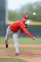 Los Angeles Angels of Anaheim pitcher Michael Bolaski (36) during an Instructional League game against the Arizona Diamondbacks on October 7, 2014 at Salt River Fields at Talking Stick in Scottsdale, Arizona.  (Mike Janes/Four Seam Images)