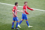 Atletico de Madrid's Antoine Griezmann and Koke Resurrecccion celebrate goal during La Liga match. March 19,2017. (ALTERPHOTOS/Acero)