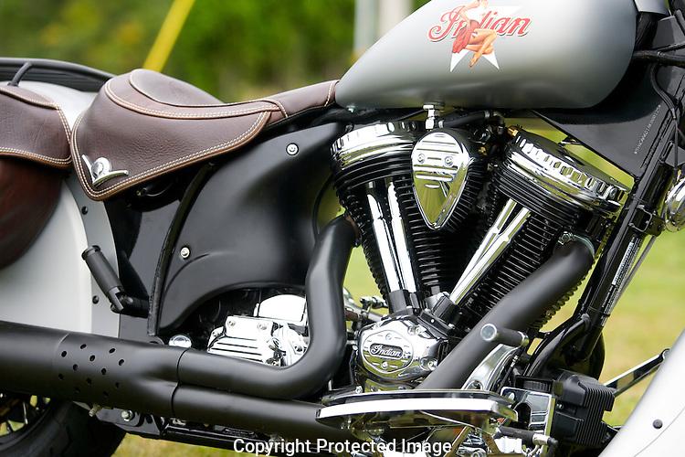 Motorcycles in the Killington region of Vermont.