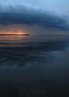 Clouds over Lake Oneida, New York.