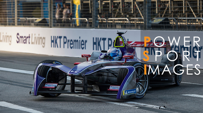 Sam Bird of Great Britain from DS Virgin Racing steers his car to win the FIA Formula E Hong Kong 2017 E-Prix Round 1 at the Central Harbourfront Circuit on 02 December 2017 in Hong Kong, Hong Kong. Photo by Marcio Rodrigo Machado / Power Sport Images