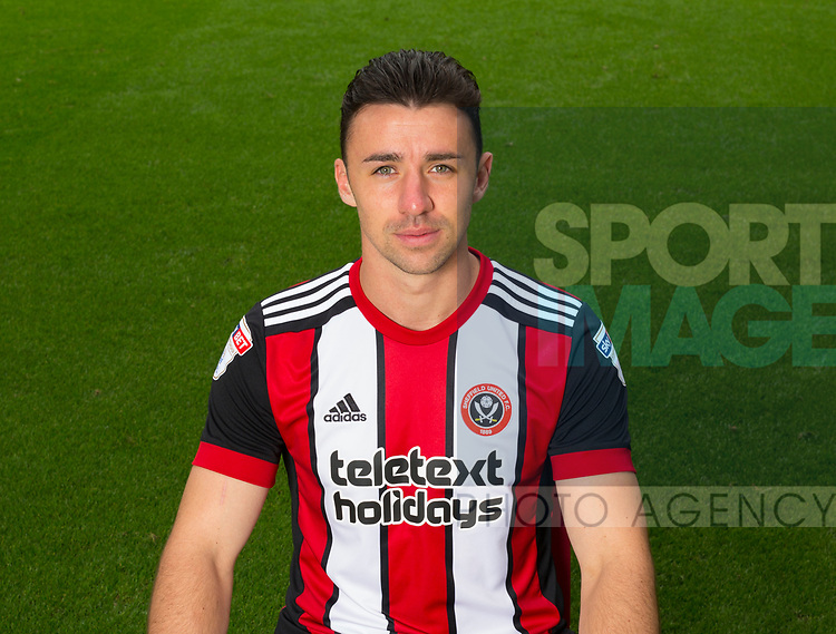 Enda Stevens of Sheffield Utd during the 2017/18 Photocall at Bramall Lane Stadium, Sheffield. Picture date 7th September 2017. Picture credit should read: Sportimage