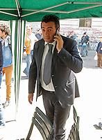 Matteo Salvini il segretario della Lega Nord deve rinunciare ad un  suo intervento in piazza Carlo III a Napoli e va via scortato dalla polizia<br /> nella foto Antonio Coppola candidato napoletano della lega Nord