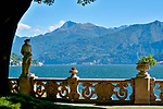 Gardens at the Villa Monastero in Varenna, Italy on Lake Como