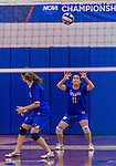 2 November 2014: Yeshiva University Maccabee Outside Hitter Gabi Katz, a Senior from New Rochelle, NY, in action against the Sarah Lawrence Gryphons at SUNY Purchase College, in Purchase, NY. The Maccabees defeated the Gryphons 3-2 in the NCAA Division III Women's Volleyball Skyline matchup. Katz ended her 2014 season with 18 Kills and 49 Digs for the Lady Macs. Mandatory Credit: Ed Wolfstein Photo *** RAW (NEF) Image File Available ***