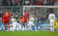 FUSSBALL: Champions League, Halbfinale, Hinspiel, FC Bayern Muenchen - Real Madrid, Muenchen, 17.04.2012..Franck Ribery (Bayern) erzielt das 1:0..© pixathlon