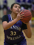 Spanish Springs Cougars Kierra Johnson shoots against the Reed Raiders in their basketball game played on Friday night, February 10, 2017 at Reed High School in Sparks, Nevada.