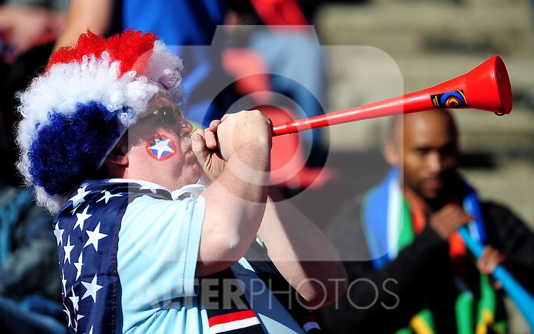 Fans during the 2010 World Cup Soccer match between the USA and Slovenia played at Ellispark Stadium in Johannesburg South Africa on 18 June 2010.