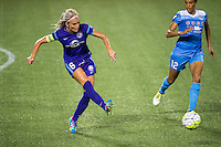 Orlando, FL - Saturday July 16, 2016: Kaylyn Kyle during a regular season National Women's Soccer League (NWSL) match between the Orlando Pride and the Chicago Red Stars at Camping World Stadium.