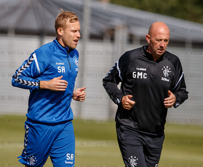 10.08.18 Rangers training: Scott Arfield and Gary McAllister