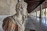The Stoa of Attalos (159 B.C.) in the Ancient Athenian Agora, Greece