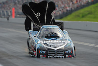 Jun. 19, 2011; Bristol, TN, USA: NHRA funny car driver Matt Hagan during eliminations at the Thunder Valley Nationals at Bristol Dragway. Mandatory Credit: Mark J. Rebilas-