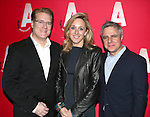 Jeffory Lawson, Kate Pakenham and Neil Pepe  attending the Opening Night after party for the Atlantic Theater Company's 'The Night Alive' at IL Bastardo on December 12, 2013 in New York City.