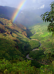 Rainbow in Paradise<br /> This view is looking up Waimea Canyon &quot;The Grand Canyon of the Pacific&quot;. Movies like Jurassic Park and Raiders of the Lost Ark were filmed in this area. The mountain in the background is Waialeale which receives more rain than any other place on Earth!