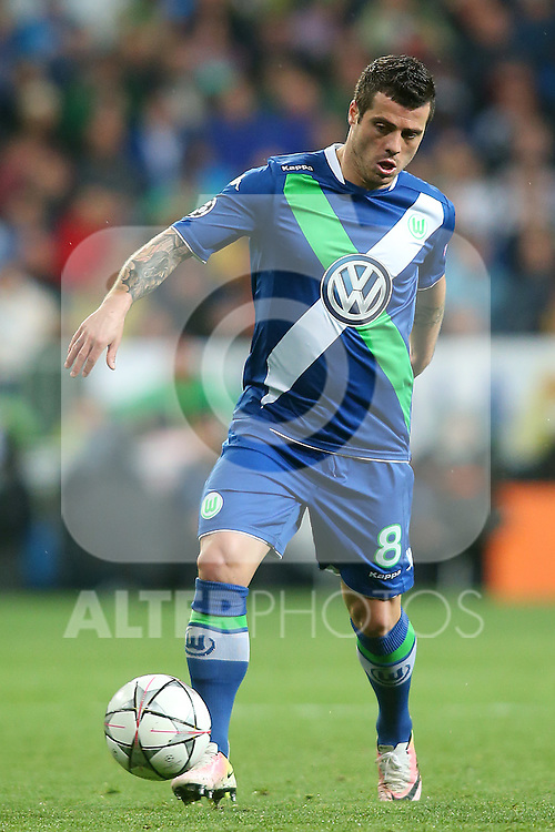 WfL Wolfsburg's Vieirinha during Champions League 2015/2016 Quarter-finals 2nd leg match. April 12,2016. (ALTERPHOTOS/Acero)