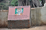 Park Sign, Ranthambhore National Park; Rajasthan