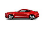 Car Driver side profile view of a 2017 Ford Mustang V6 2 Door Coupe Side View