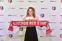 Los Angeles, CA - Thursday January 12, 2017: Morgan Proffitt during the 2017 NWSL College Draft at JW Marriott Hotel.