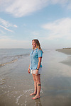 Kimberly Andrews, research coordinator for the Jekyll  Island Sear Turtle Center, stands for a portrait on the beach of Jekyll Island, Georgia at dawn August 15, 2013.