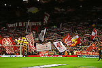 A general view as the Kop wave flags during the UEFA Europa League match at Anfield. Photo credit should read: Philip Oldham/Sportimage