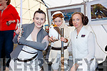 Rey from the 501st (Siobhan Hind) with Alice Sullivan-Bank and Laura O'Sullivan from Killarney at the May the 4th be with You Festival on Valentia Island on Sunday.