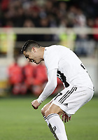 Calcio, Serie A: Fiorentina - Juventus, stadio Artemio Franchi Firenze 1 dicembre 2018.<br /> Juventus' Cristiano Ronaldo reacts during the Italian Serie A football match between Fiorentina and Juventus at Florence's Artemio Franchi stadium, December 1, 2018.<br /> UPDATE IMAGES PRESS/Isabella Bonotto