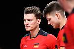 14.09.2019, Paleis 12, BrŸssel / Bruessel<br />Volleyball, Europameisterschaft, Deutschland (GER) vs. Belgien (BEL)<br /><br />Lukas Kampa (#11 GER), Ruben Schott (#3 GER) enttŠuscht / enttaeuscht / traurig <br /><br />  Foto © nordphoto / Kurth