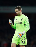 Liverpool's Simon Mignolet looks on dejected after his mistake during the premier league match at the Emirates Stadium, London. Picture date 22nd December 2017. Picture credit should read: David Klein/Sportimage