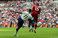 Erik Lamela of Tottenham Hotspur scores the first Spurs goal during Tottenham Hotspur vs Liverpool, Premier League Football at Wembley Stadium on 15th September 2018