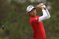 Min Woo Lee (AUS) on the 3rd fairway during Round 4 of the Australian PGA Championship at  RACV Royal Pines Resort, Gold Coast, Queensland, Australia. 22/12/2019.<br /> Picture Thos Caffrey / Golffile.ie<br /> <br /> All photo usage must carry mandatory copyright credit (© Golffile   Thos Caffrey)