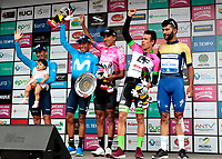 MANIZALES - COLOMBIA - 11 - 02 - 2018: Egan Bernal (Cent.) ciclista colombiano, del Equipo Sky, se adjudica la Colombia Oro y Paz UCI 2.1 / Egan Bernal (C) Colombian cyclist, Team Sky, is awarded the Colombia Oro y Paz UCI 2.1. Photo: VizzorImage /Santiago Osorio /Cont.