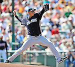 8 March 2011: New York Yankees' pitcher Freddy Garcia on the mound during a Spring Training game against the Atlanta Braves at Champion Park in Orlando, Florida. The Yankees edged out the Braves 5-4 in Grapefruit League action. Mandatory Credit: Ed Wolfstein Photo