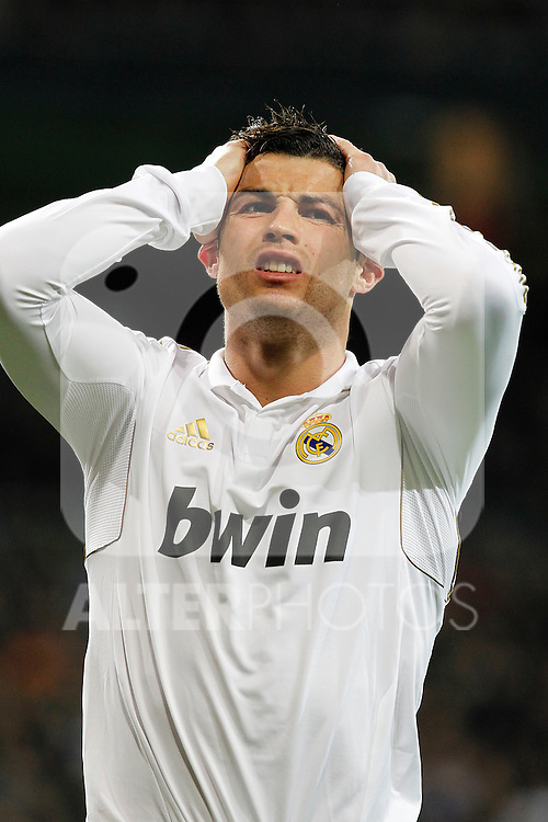 Real Madrid's Cristiano Ronaldo during la Liga match on march 18th 2012...Photo: Alex Cid-Fuentes / ALFAQUI