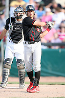May 25, 2008: Quad Cities River Bandits Jose Garcia (10) at bat against the Kane County Cougars at Elfstrom Stadium in Geneva, IL. Photo by: Chris Proctor/Four Seam Images