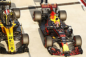 30th September 2017, Sepang, Malaysia;  FIA Formula One World Championship 2017, Grand Prix of Malaysia, #27 Nico Hulkenberg (GER, Renault Sport F1 Team), #33 Max Verstappen (NLD, Red Bull Racing)
