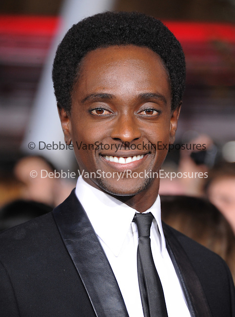 Edi Gathegi attends The world premiere of Summit Entertainment's THE TWILIGHT SAGA: BREAKING DAWN -PART 2 held at  Nokia Theater at L.A. Live in Los Angeles, California on November 12,2012                                                                               © 2012 DVS / Hollywood Press Agency