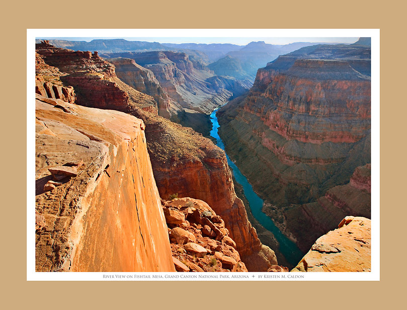 View of the Colorado River from Fishtail Mesa<br /> Grand Canyon National Park